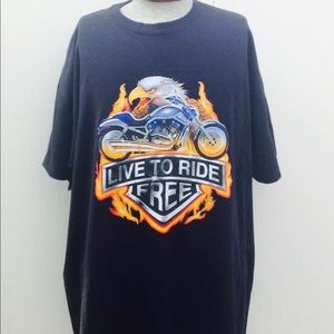 Motorcycle & Bikers Live to ride free t shirt.